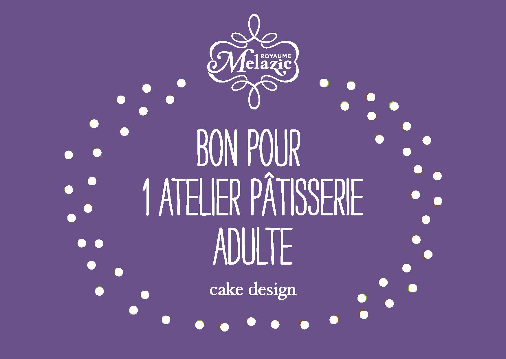 """Bon cadeau atelier """"adulte"""" (cake design)"""
